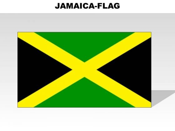 Jamaica Country PowerPoint Flags