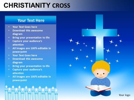 Jesus Christianity Cross PowerPoint Slides And Ppt Diagram Templates