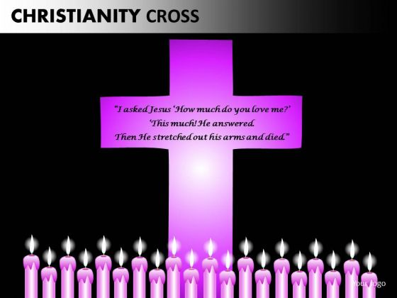 Jesus Cross And Candles PowerPoint Slides And Ppt Presentation Templates