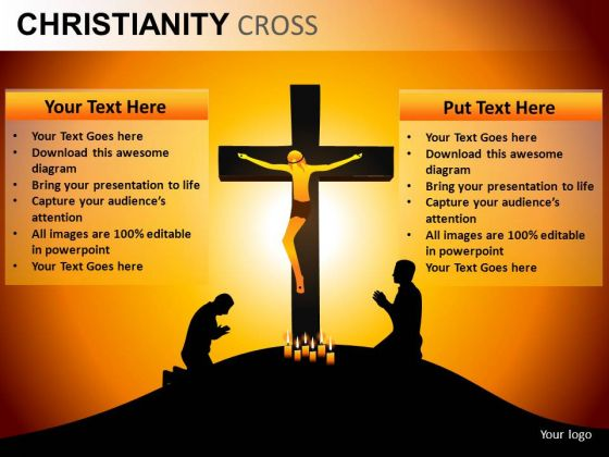 Jesus Crucifix Cross PowerPoint Slides And Ppt Diagram Templates