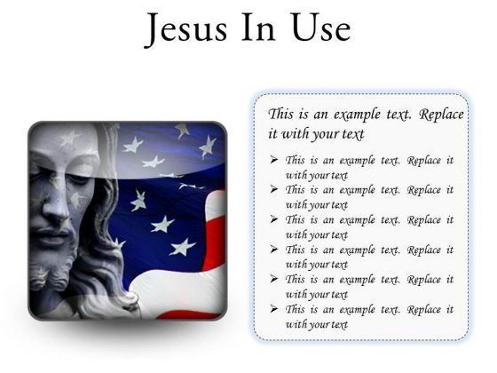Jesus In Usa Religion PowerPoint Presentation Slides S