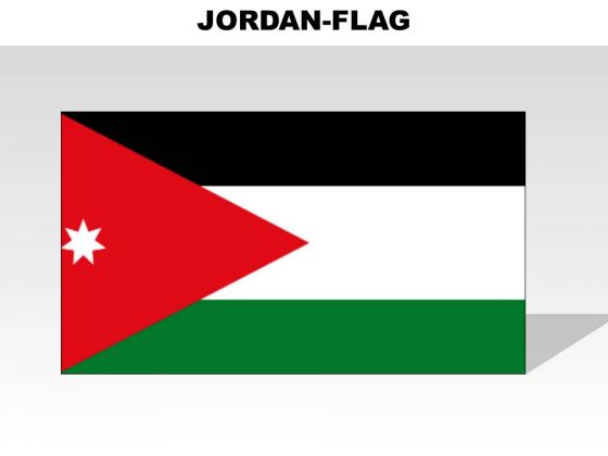 Jordan Country PowerPoint Flags