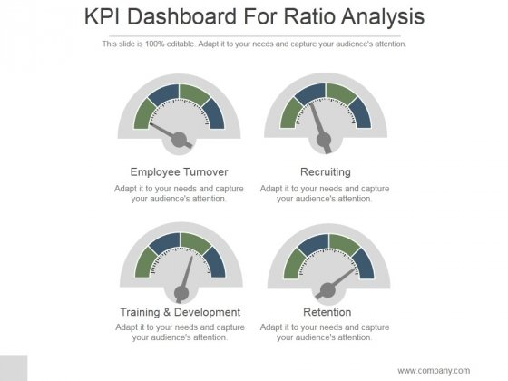 KPI Dashboard For Ratio Analysis Ppt PowerPoint Presentation Show