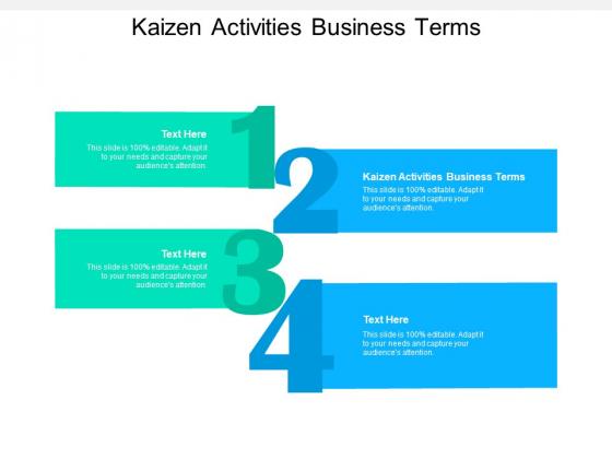 Kaizen Activities Business Terms Ppt PowerPoint Presentation Slides Template