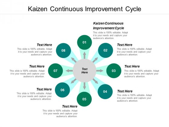 Kaizen Continuous Improvement Cycle Ppt PowerPoint Presentation Gallery Skills Cpb