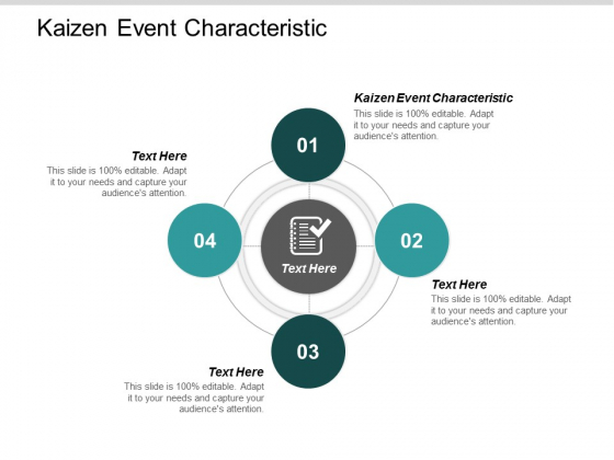 Kaizen Event Characteristic Ppt Powerpoint Presentation Gallery Slides Cpb