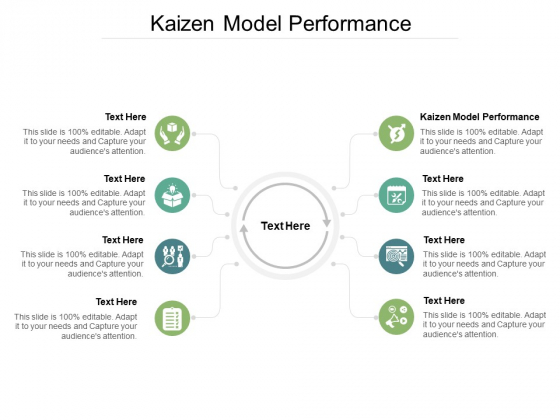 Kaizen Model Performance Ppt PowerPoint Presentation Gallery Graphics Example Cpb