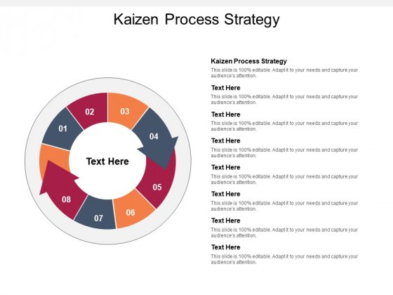 Kaizen Process Strategy Ppt PowerPoint Presentation Inspiration Gridlines Cpb Pdf