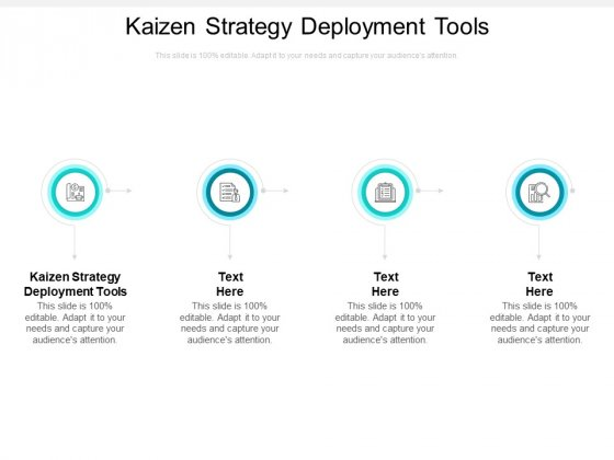 Kaizen Strategy Deployment Tools Ppt PowerPoint Presentation Ideas Examples Cpb