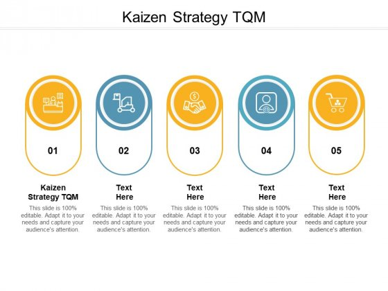 Kaizen Strategy TQM Ppt PowerPoint Presentation Layouts Master Slide Cpb