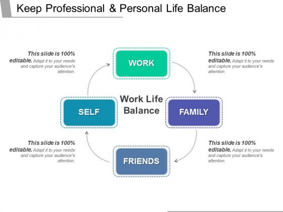 Keep Professional And Personal Life Balance Ppt PowerPoint Presentation Portfolio Show