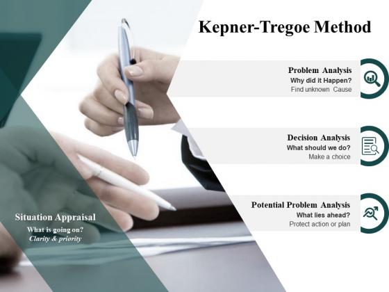 Kepner Tregoe Method Planning Ppt PowerPoint Presentation File Vector