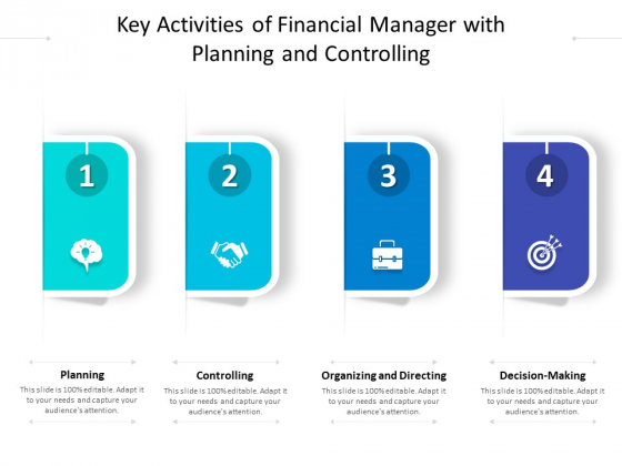 Key Activities Of Financial Manager With Planning And Controlling Ppt PowerPoint Presentation Summary Portfolio