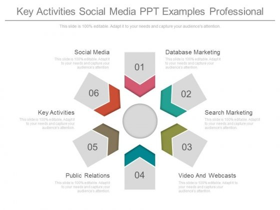 Key Activities Social Media Ppt Examples Professional