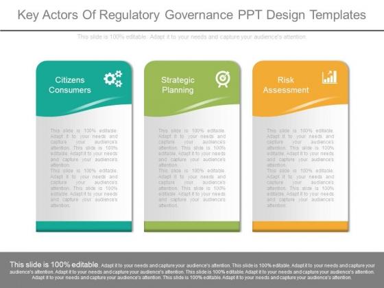 Key Actors Of Regulatory Governance Ppt Design Templates