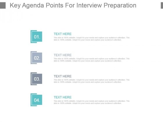 Key Agenda Points For Interview Preparation Example Of Ppt