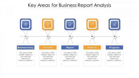 Key Areas For Business Report Analysis Ppt PowerPoint Presentation Gallery Images PDF