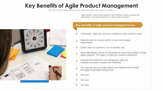 Key Benefits Of Agile Product Management Ppt PowerPoint Presentation File Display PDF