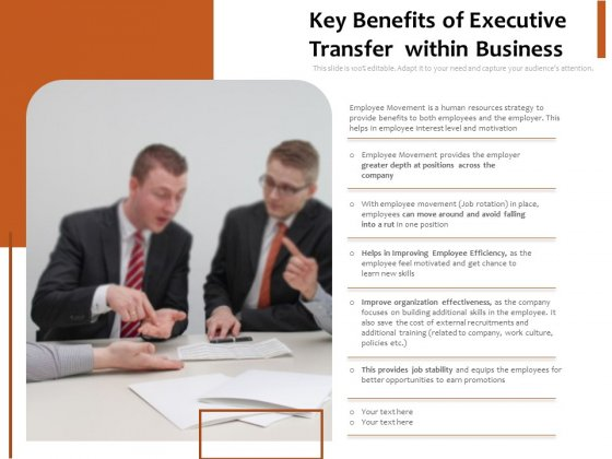 Key Benefits Of Executive Transfer Within Business Ppt PowerPoint Presentation Icon Layouts PDF