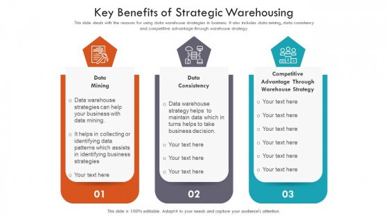 Key Benefits Of Strategic Warehousing Ppt PowerPoint Presentation File Ideas PDF
