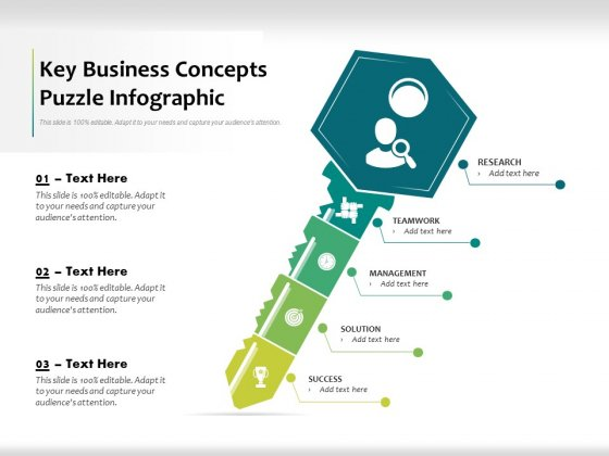 Key Business Concepts Puzzle Infographic Ppt PowerPoint Presentation Professional Show PDF