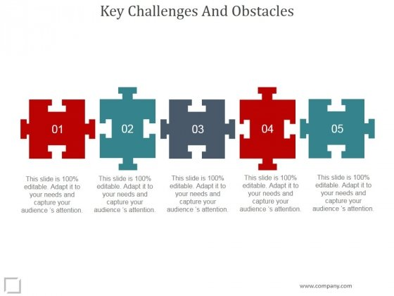 Key Challenges And Obstacles Ppt PowerPoint Presentation Guidelines