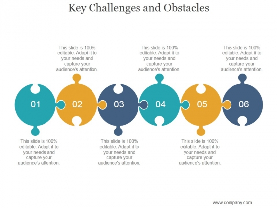 Key Challenges And Obstacles Ppt PowerPoint Presentation Slide