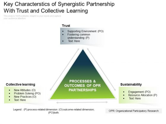 Key Characterstics Of Synergistic Partnership With Trust And Collective Learning Ppt PowerPoint Presentation Gallery Graphics Pictures PDF