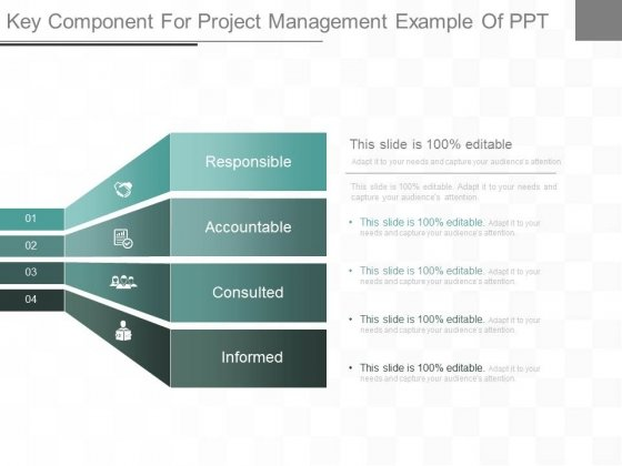 Key Component For Project Management Example Of Ppt