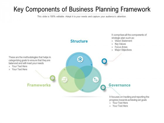 Key Components Of Business Planning Framework Ppt PowerPoint Presentation File Picture PDF