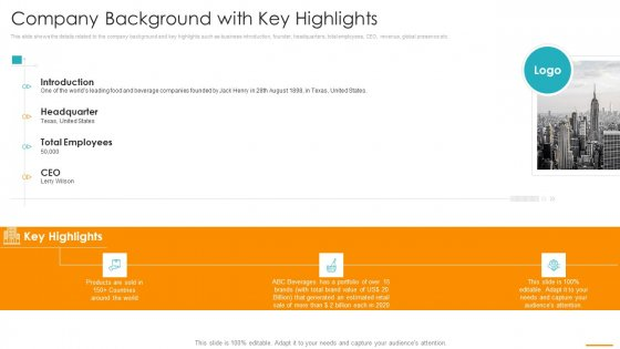 Key Considerations Marketing Franchise Company Background With Key Highlights Structure PDF