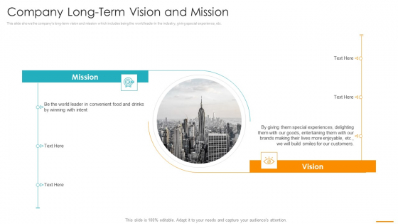 Key Considerations Marketing Franchise Company Long Term Vision And Mission Introduction PDF