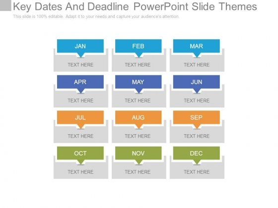 Key Dates And Deadline Powerpoint Slide Themes