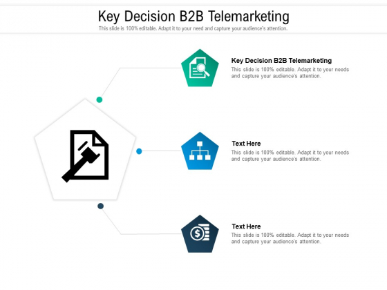 Key Decision B2B Telemarketing Ppt PowerPoint Presentation Pictures Cpb Pdf