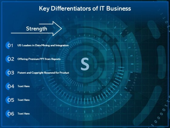 Key Differentiators Of It Business Ppt PowerPoint Presentation Layouts Skills