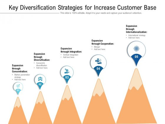 Key Diversification Strategies For Increase Customer Base Ppt PowerPoint Presentation File Samples PDF