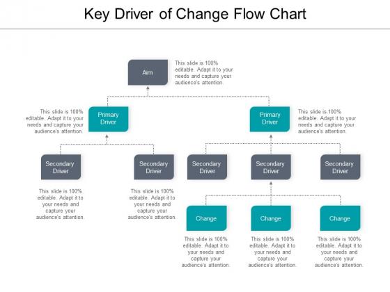 Key Driver Of Change Flow Chart Ppt PowerPoint Presentation Icon Portrait