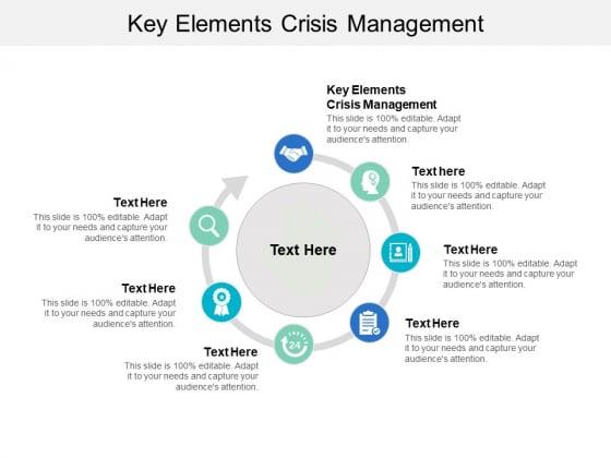 Key Elements Crisis Management Ppt PowerPoint Presentation Ideas Objects Cpb