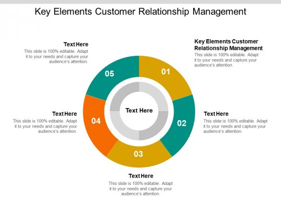 Key Elements Customer Relationship Management Ppt PowerPoint Presentation Ideas Sample Cpb Pdf