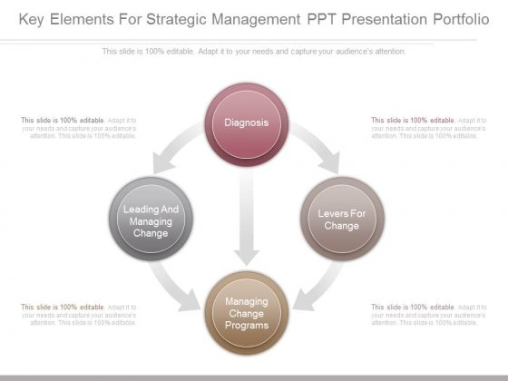 Key Elements For Strategic Management Ppt Presentation Portfolio