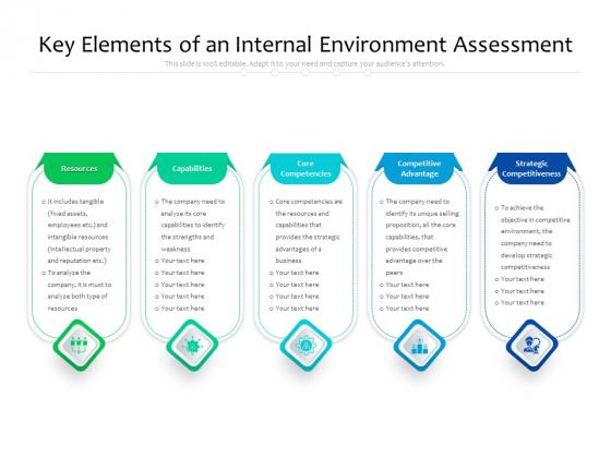 Key Elements Of An Internal Environment Assessment Ppt PowerPoint Presentation Graphics PDF