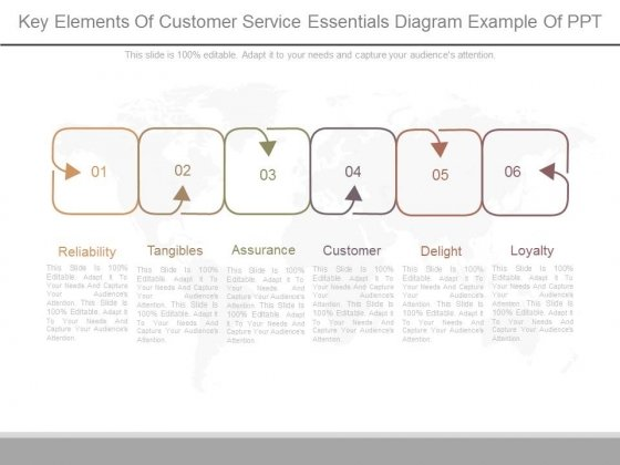 Key Elements Of Customer Service Essentials Diagram Example Of Ppt