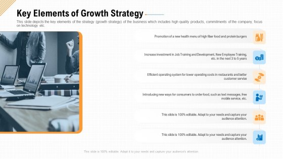 Key Elements Of Growth Strategy Ppt Show Influencers PDF