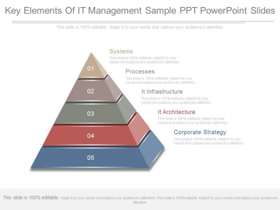 Key Elements Of It Management Sample Ppt Powerpoint Slides
