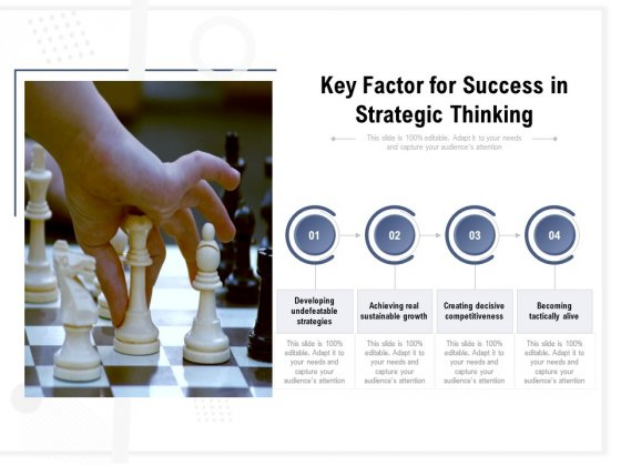 Key Factor For Success In Strategic Thinking Ppt PowerPoint Presentation Picture