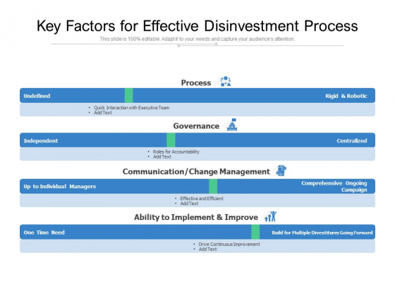 Key Factors For Effective Disinvestment Process Ppt PowerPoint Presentation Styles Brochure PDF
