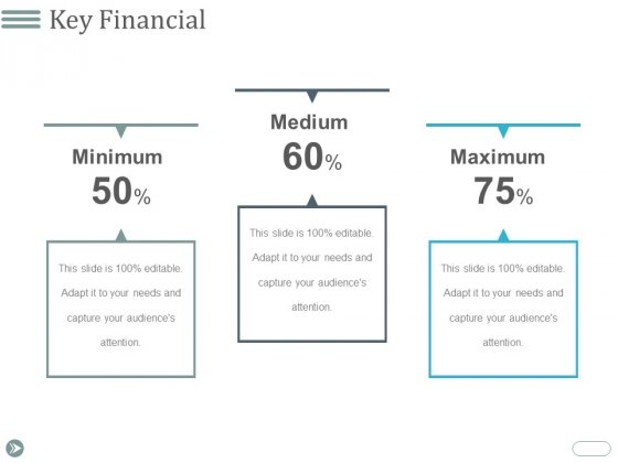 Key Financial Ppt PowerPoint Presentation Summary Example Topics