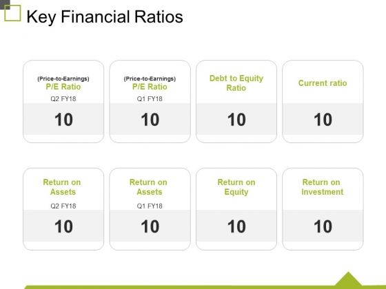 Key Financial Ratios Ppt PowerPoint Presentation Professional Brochure