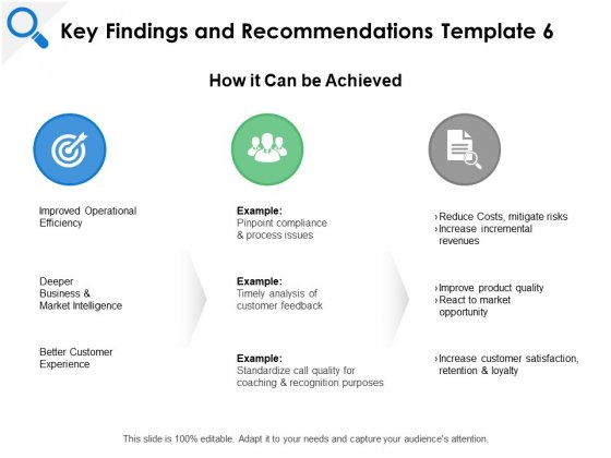 Key Findings And Recommendations Efficiency Ppt PowerPoint Presentation File Tips