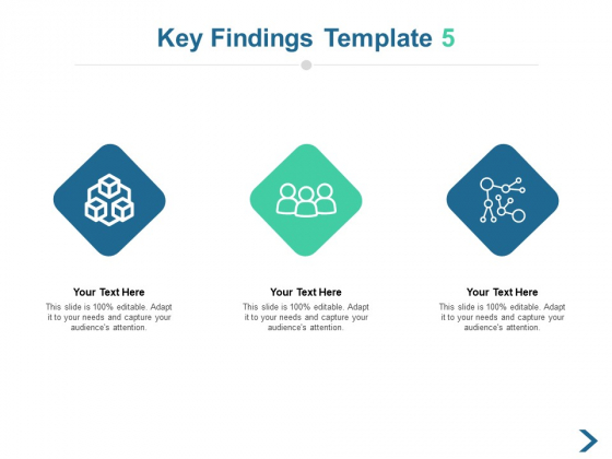 Key Findings Icons Strategy Ppt PowerPoint Presentation File Design Templates